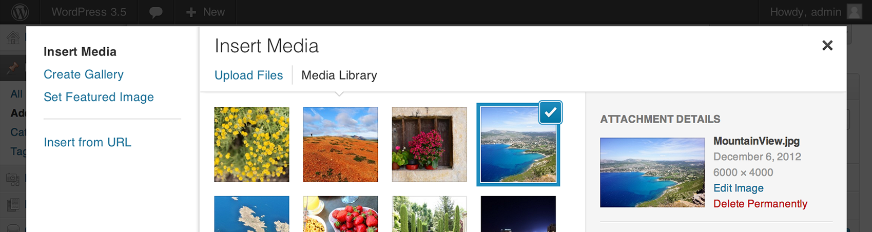 about media Wordpress 3.5 is here