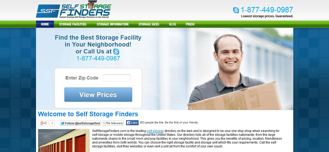 Find Local Self Storage Facilities - Self Storage Finders 2014-02-14 13-06-05