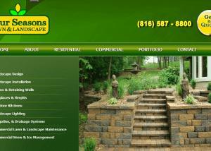 Four Seasons Lawn Landscape 2014 02 14 14 03 111 300x214 Web Design Portfolio