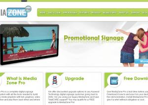 Media Zone Pro MediaZone Pro Digital Signage Software 2014 02 14 12 37 581 300x214 Web Design Portfolio