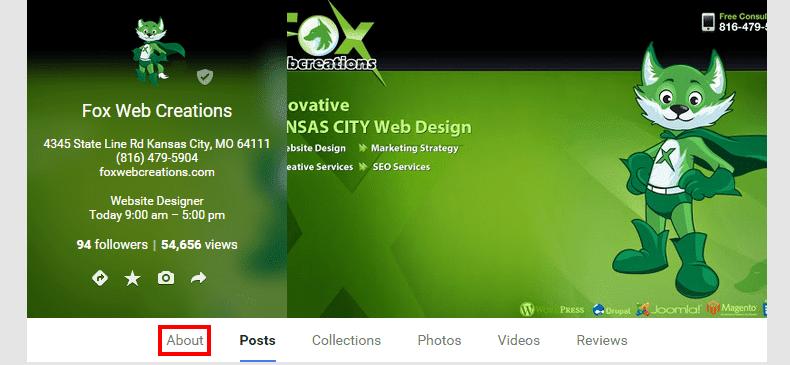 Fox Web Creations   Google 3