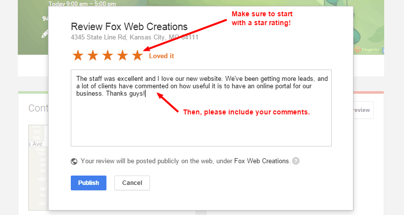 Fox Web Creations   Google 5