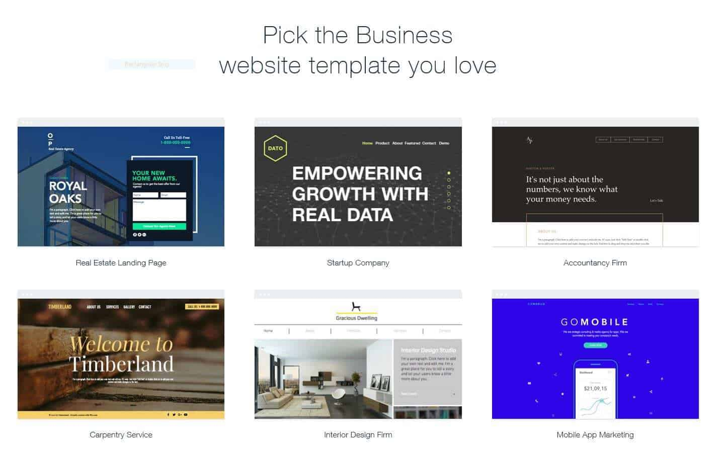Pick a template you like and we will turn it into your business brand